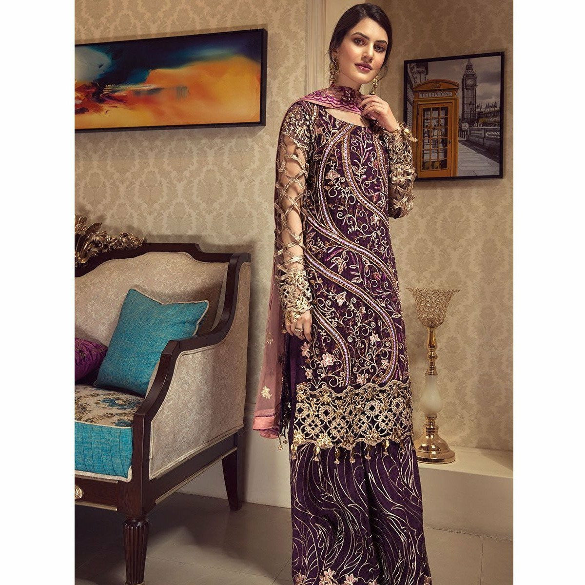 Pakistani Designer Suits, Pakistani Designer Suits for women, ladies trouser suits for weddings