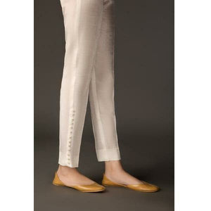 BAROQUE - DESIGN 48 | White Bottom Women's Trouser