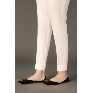 BAROQUE - DESIGN 47 | Off White Bottom Women's Trouser - House of Faiza