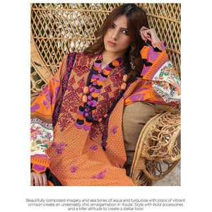 Zaha Fabulous 35 Lawn 20 Vol 1 - 09 - House of Faiza