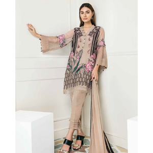 Chimmer by Charizma Embroidered Bamber Chiffon Collection Vol 2 - Subtle Bloom CM-08