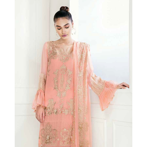 Chimmer by Charizma Embroidered Bamber Chiffon Collection Vol 2 - Pastel Command CM-11