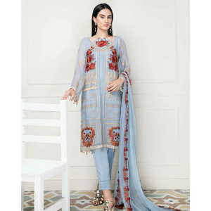 Chimmer by Charizma Embroidered Bamber Chiffon Collection Vol 2 - Icy Vogue CM-14