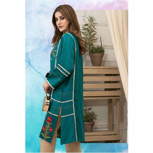 Dolce Leather Viscose Jacquard Pret | D9302 B - House of Faiza