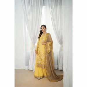 SAIRA RIZWAN | Rouge | Jaune – SR – 1 - House of Faiza
