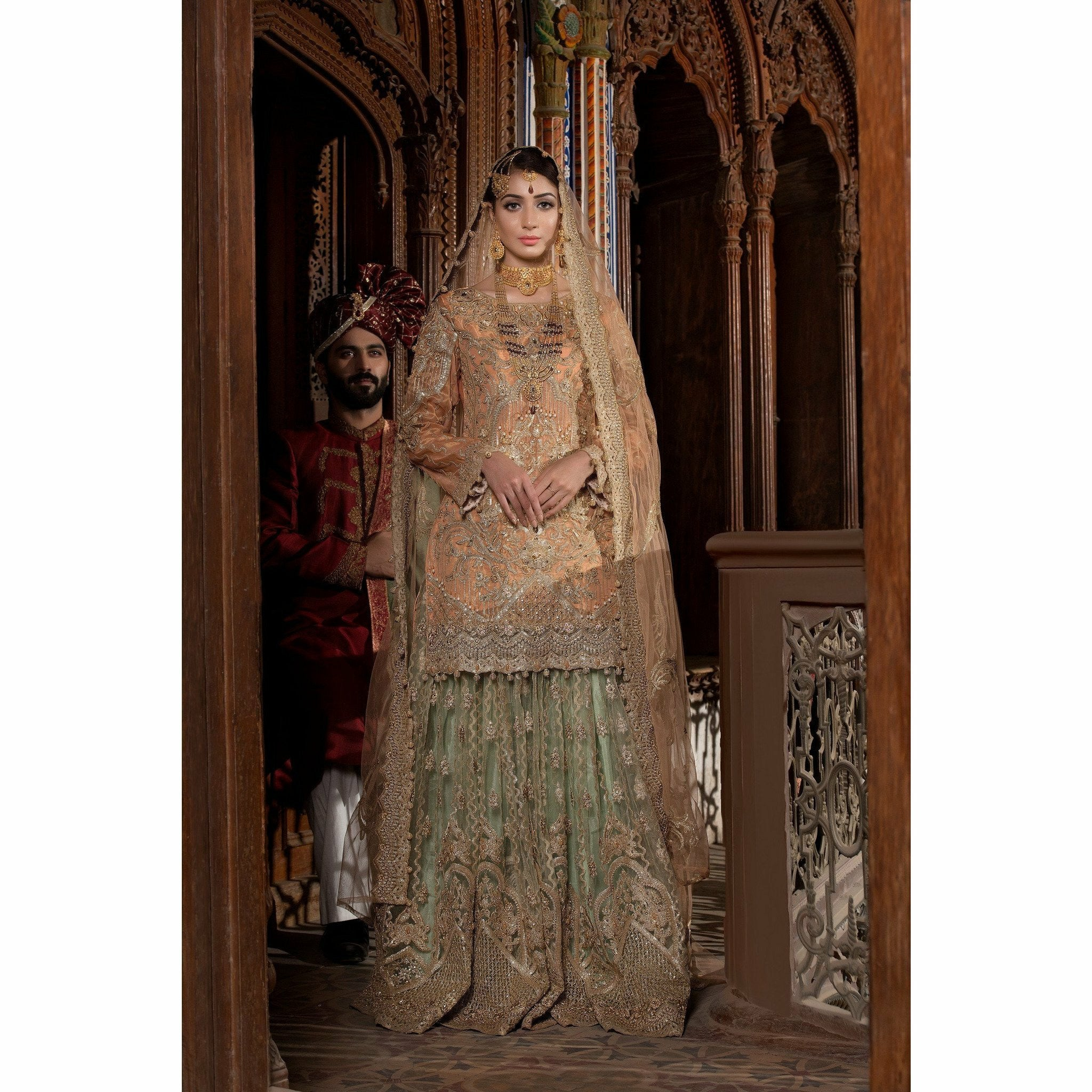 embroidered Pakistani designer clothes