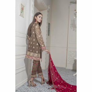 Maryum N Maria Chiffon Collection | Caramel Blossom - FMM-305