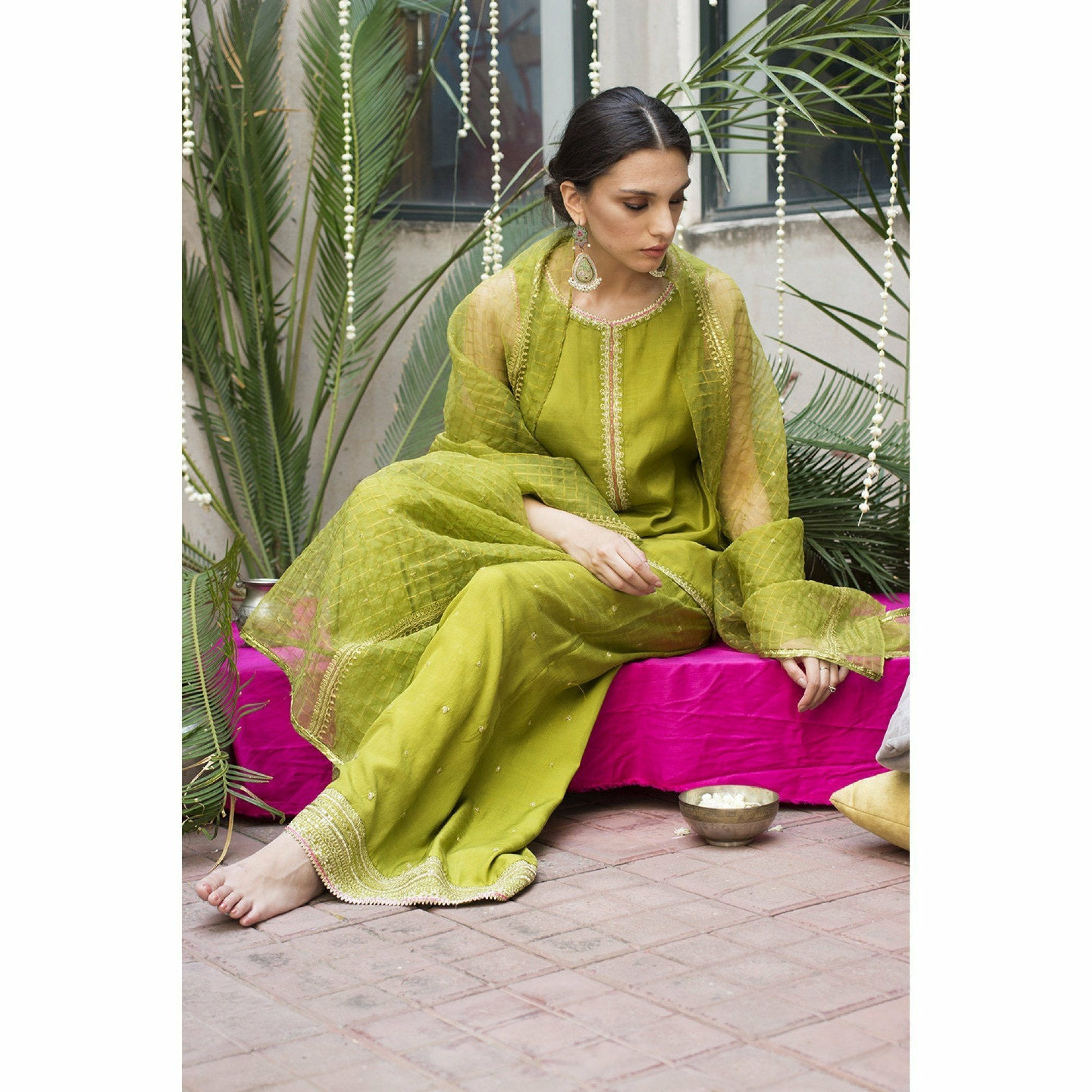 DYOT Resham - Green Outfit