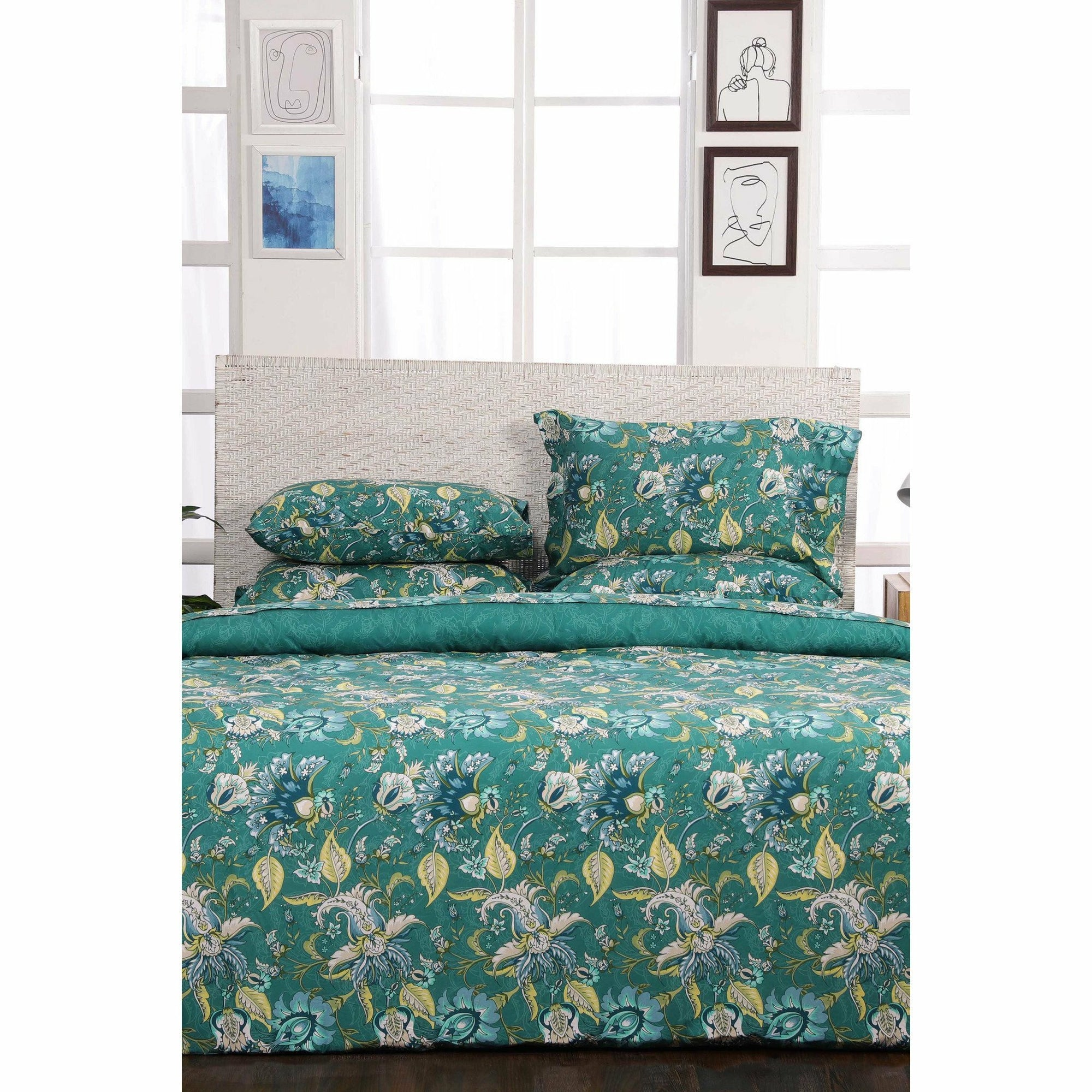 Sapphire | Printed Bed Set | Shelly - House of Faiza