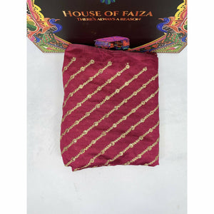 HOF | UNSTITCHED EMBROIDERED KHADDI | 07 - House of Faiza