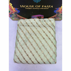 HOF | UNSTITCHED EMBROIDERED KHADDI | 08 - House of Faiza