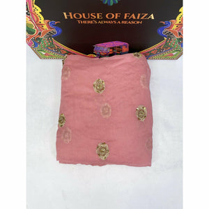 HOF | UNSTITCHED EMBROIDERED CHIFFON | 06 - House of Faiza