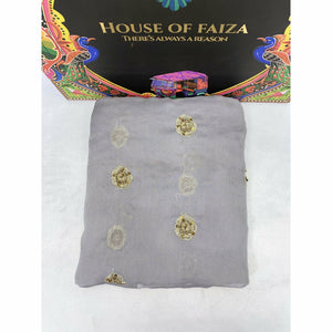 HOF | UNSTITCHED EMBROIDERED CHIFFON | 05 - House of Faiza