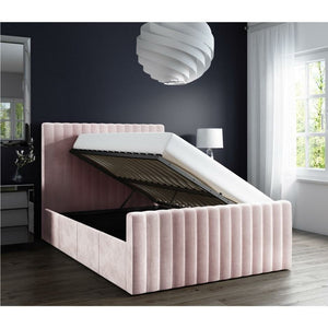 Khloe Plush Velvet Bed - Baby Pink - House of Faiza