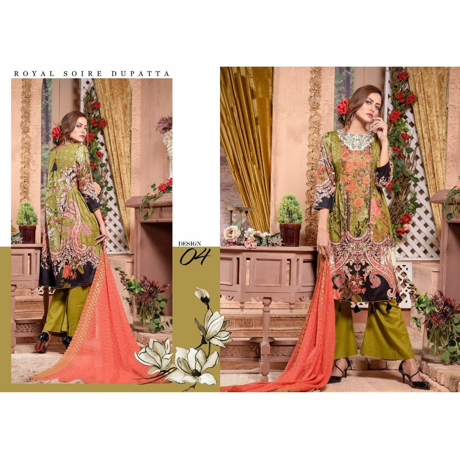 Keysaria Embroidered Vol 2 - Design 04 - House of Faiza
