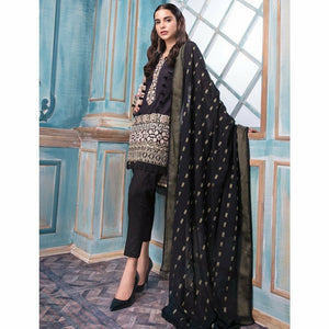 Khas Lawn Collection 2018 - Vol 4 - MODISH BLACK KCE-6023