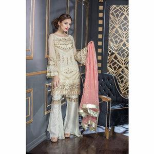 Maryum N Maria Chiffon Collection | White Astible - FMM-201