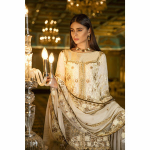 Maryum N Maria Embroidered Chiffon Collection | VANILLA GRACE MMB-201