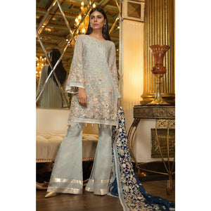 Maryum N Maria Embroidered Chiffon Collection | GRAY FROST MMB-203