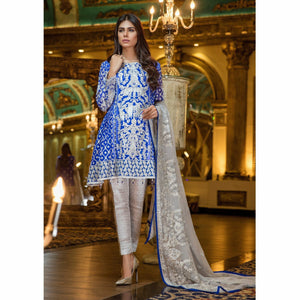 Maryum N Maria Embroidered Chiffon Collection | HAUTE BLUE MMB-208