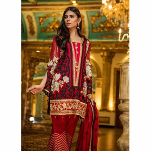 Maryum N Maria Embroidered Chiffon Collection | RED CARNATION MMB-209
