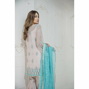 Maryum N Maria Embroidered Chiffon Collection | Soft Hues MM-A01