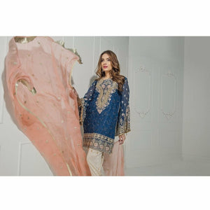 Maryum N Maria Embroidered Chiffon Collection | Royal Shine MM-A02
