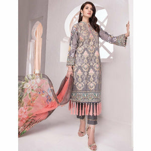 Khas Lawn Collection 2018 - Vol 4 - PALM STENCIL KC-5026