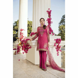 IMROZIA PREMIUM - 09 The Pinkish Decora | Embroidered Fully Stitched Women's Suit