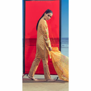 Embroidered Lawn Shirt with Chiffon Dupatta & Printed Trouser | 3pc (RC-150A )