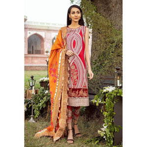 CHARIZMA SIGNATURE LAWN COLLECTION EMBROIDERED 20 - 02B - House of Faiza