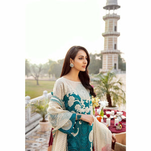 CHARIZMA SIGNATURE LAWN COLLECTION EMBROIDERED 20 - 07B - House of Faiza