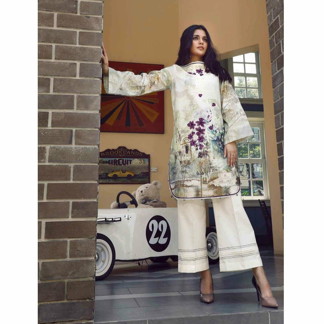 Firdous Solitaire Digital Embroidered 20 - CK19393