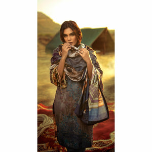 Digital Printed Khadar Pakistani Designer SUIT, salwar kameez online uk, pakistani suits online uk