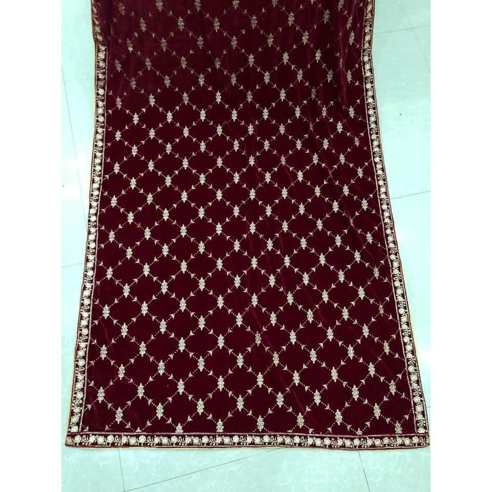NEW VELVET SHAWLS MARIA.B EMBROIDERY COLLECTION | A-05 | WINTER WRAPS