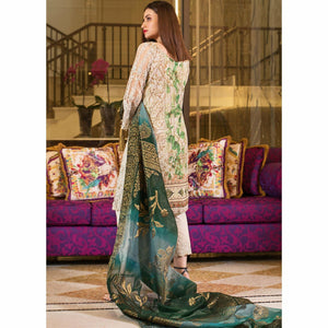 AlZohaib | Mahiymaan Luxury Lawn 21 | Design 01 - House of Faiza
