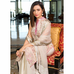 AlZohaib | Mahiymaan Luxury Lawn 21 | Design 13 - House of Faiza