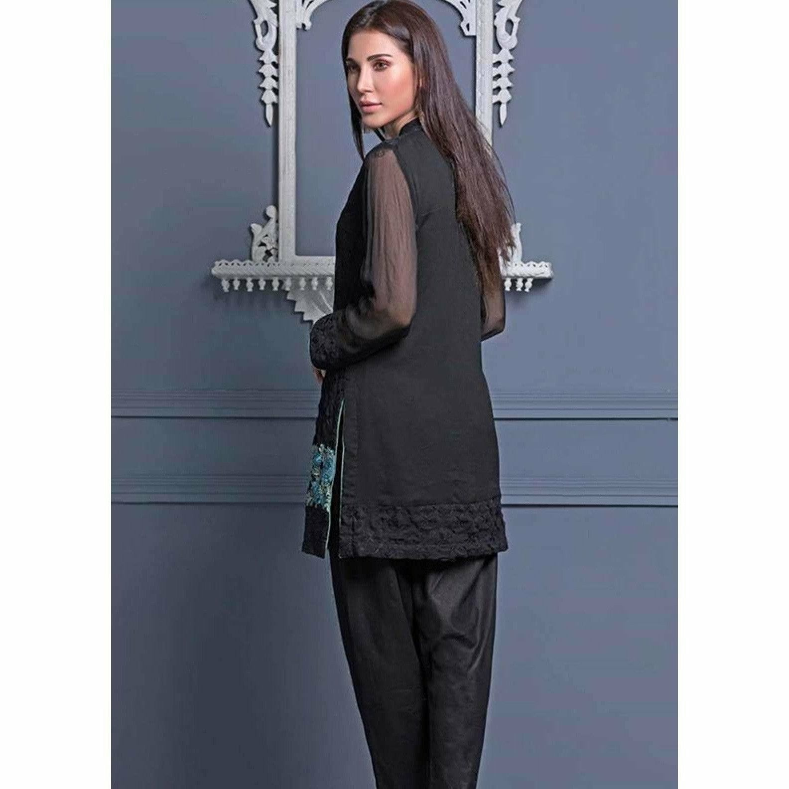 Areeba Saleem Embroidered Two Piece Kurti ZS-01