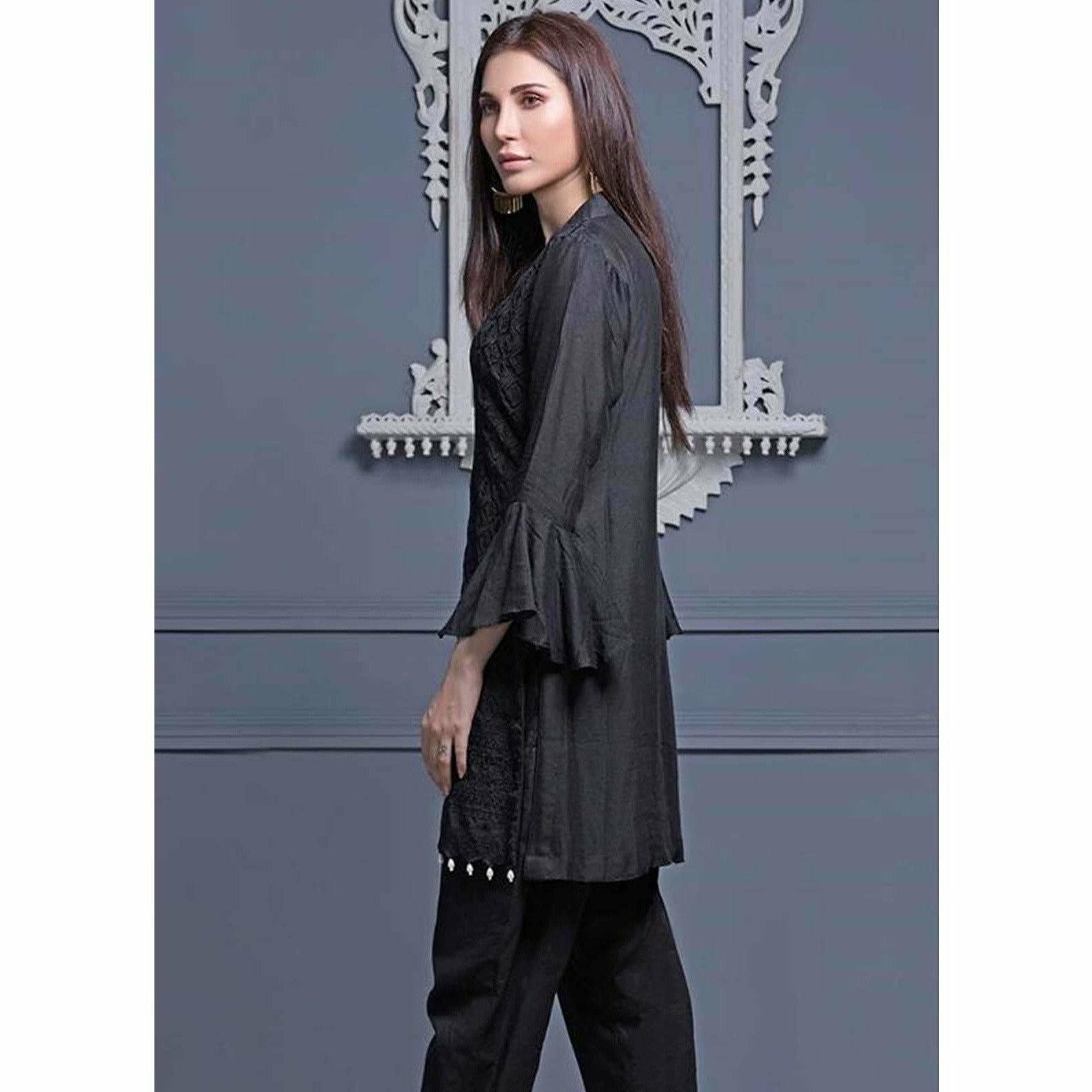 Areeba Saleem Embroidered Two Piece Kurti ZS-04