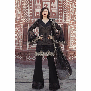 MARIA B - Black & Ivory (BD-1302) | Fully Stitched Embroidered Women's Suit
