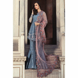 MARIA B - Cerulean Blue (BD-1304) | Fully Stitched Embroidered Women's Suit