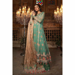 MARIA B MBROIDERED 19 V2 - Aquamarine & Pearl (BD-1701) - House of Faiza