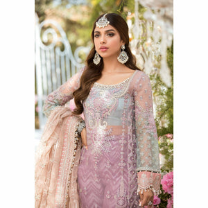Maria.B. | Mbroidered Eid Collection 21 | Shades of Lilac Pink and Blue grey (BD-2105) - House of Faiza
