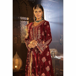 MARIA B MBROIDERED - Anari Pink (BD-1807) - House of Faiza