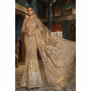 MARIA B MBROIDERED - Silver Sandstone (BD-1808) - House of Faiza