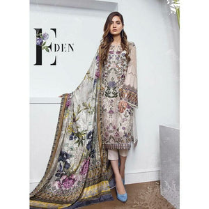 Baroque | Chantelle Embroidered Chiffon 2018 | 04 Eden - House of Faiza
