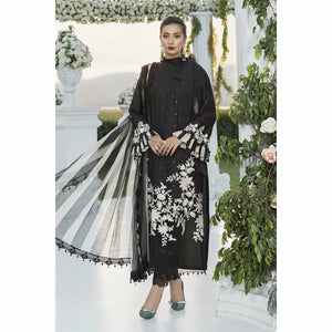 Sateen Fall Collection 20 | CST-303-Black - House of Faiza