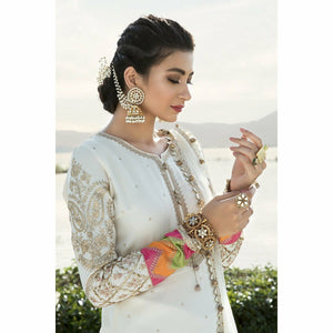 Sateen Fall Collection 20 | CST-305-Off White - House of Faiza