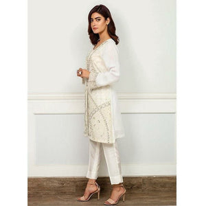 Iznik | Festive Collection '19 - D-05 WHITE JACKET (2PC)