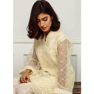 Iznik | Festive Collection '19 - D-07 ANTIQUE WHITE (2PC)